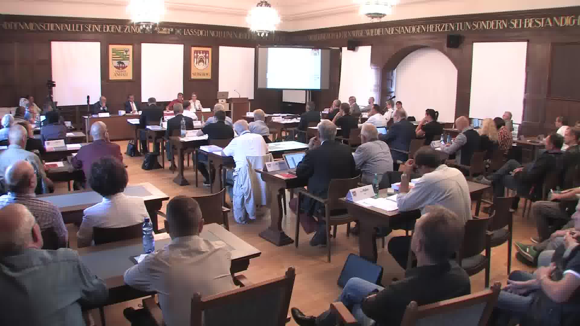 1. Sitzung des Merseburger Stadtrates von 12.September 2019