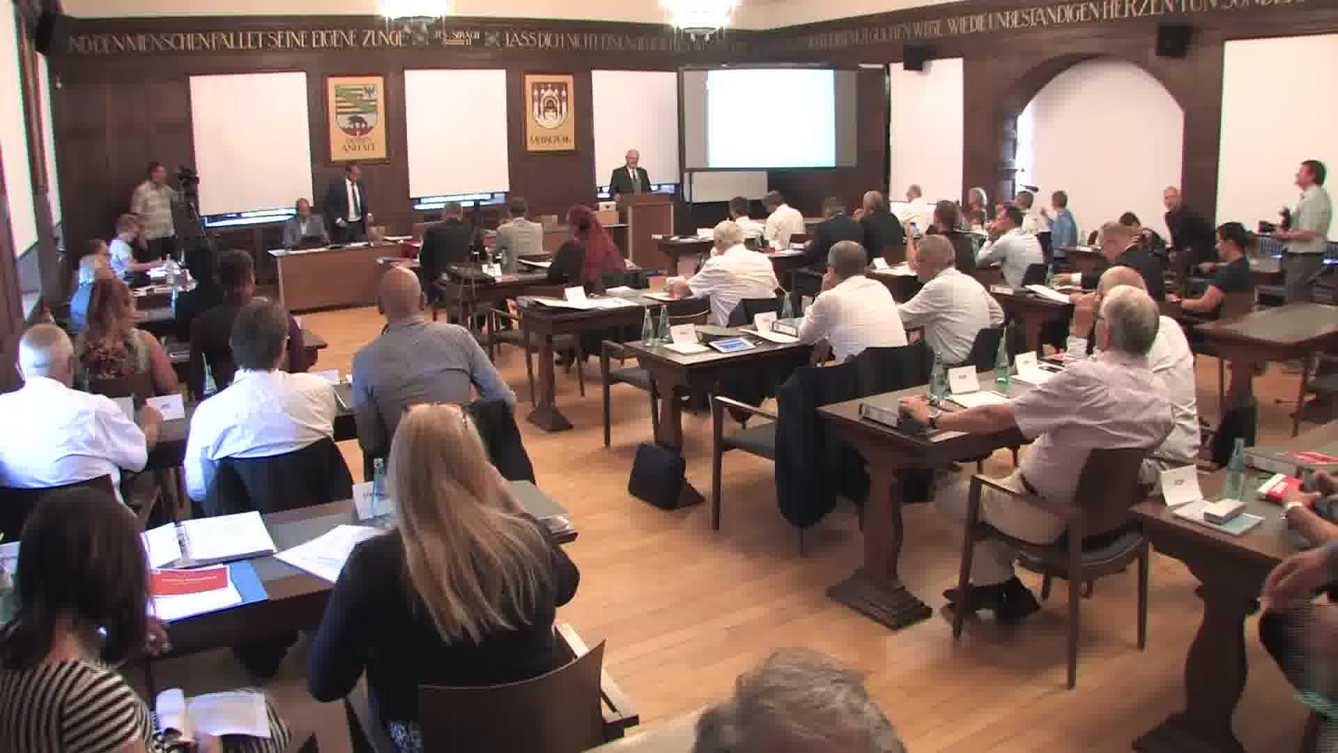 Konstituierende Sitzung des Merseburger Stadtrates vom 04.Juli 2019