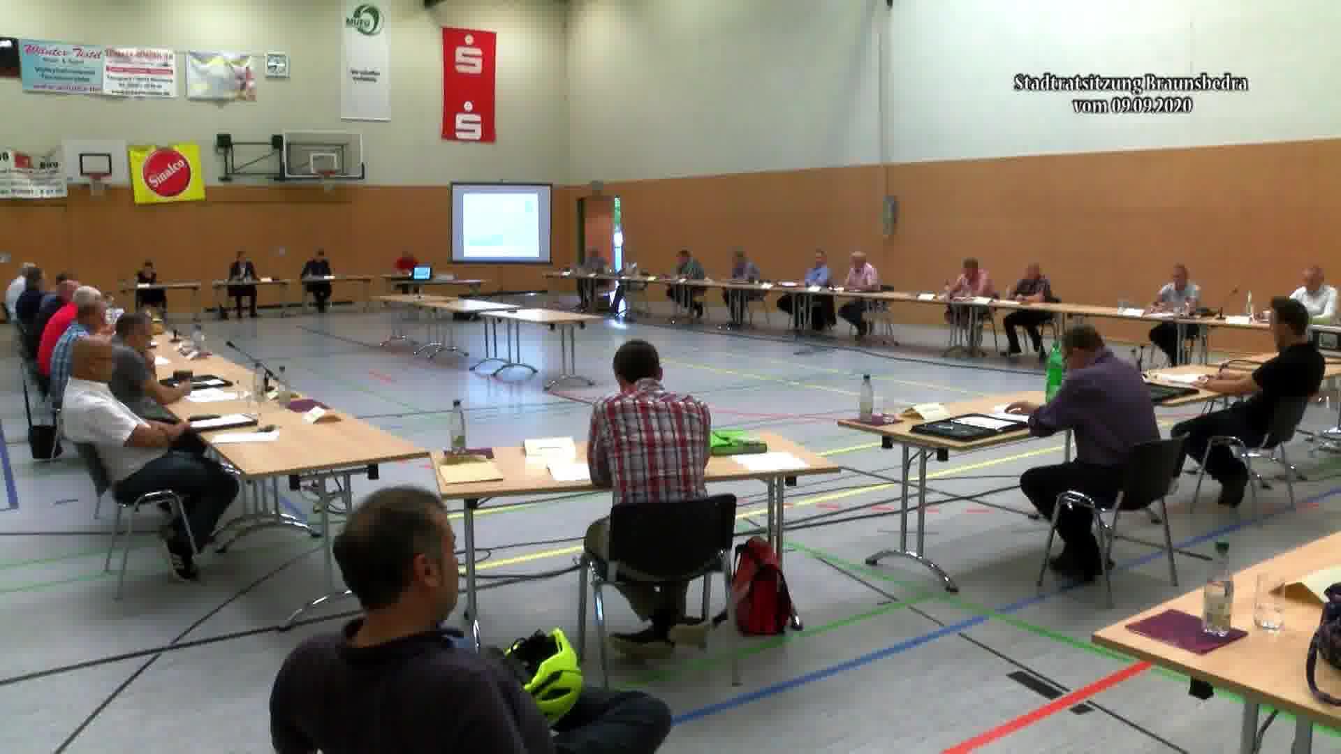 Sitzung des Stadtrates der Stadt Braunsbedra vom 9. September 2020